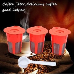Wholesale Wholesale Capsule Machines - 400Pcs K-Cup K-Carafe Reusable Refillable Coffee Filter Capsule For Keurig Machines Coffee Tea Tools Coffee Filter Pod YYA181