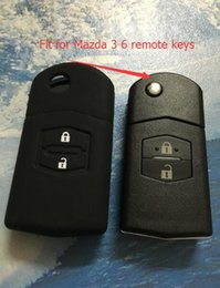 Wholesale Silicone Mazda Key - Car Silicone Key Case Cover Skin Sleeve For Mazda 3 Modified Flip 2 Buttons Remote Keys+Free Shipping