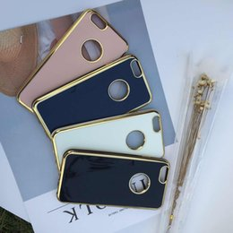 Wholesale Electroplated Rings - 4D Soft Back Cover Shell Mobile Cell Phone Case Shockproof Drop Resistance 360 Ring Plating Electroplating for IP6 IP7 IP7P IP6S IP6SP