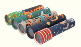 Wholesale Animal World Toys - Imaginative Cartoon Animals 3D Rotating Kaleidoscope Paper Card Kaleidoscope Colorful World Toys Interactive Toys Kids Gifts