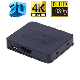 Ultra HD 4K HDMI Splitter Full HD 3D 1080p Video Interruptor de interruptor HDMI 1X2 Split 1 en 2 Salida Amplificador Pantalla doble desde fabricantes