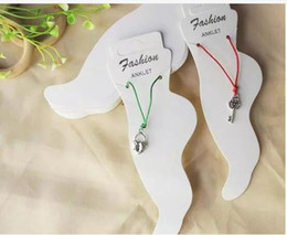 Wholesale Cardboard Christmas - fashion anklet new specialty white cardboard fashion jewelry hang tags anklet card display cards tag label display hanging drop shipping