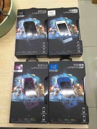 Wholesale Shockproof Waterproof Phones - 1pcs up FRE Waterproof Phone case AAA++ quality Shockproof Snowproof Dirt Snow Proof Case For Iphone 6s iPhone 7 Retail Package black color