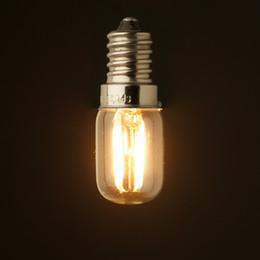 Wholesale E12 Led 1w - Retro LED Filament Bulb,1W 2200K,E12 E14 Base,Edison T20 T6 Clear Style,Household Lights,Dimmable