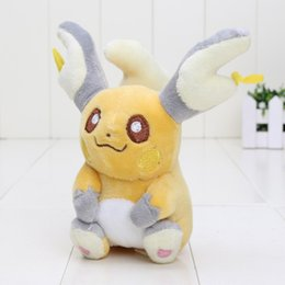 Canada 10pcs 15cm Animal Character pikachu Peluche jouet Raichu Game Soft Stuffed Doll kids cadeau Offre