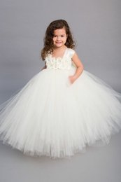 Wholesale Affordable Black Ball Gowns - Affordable A-line Straps Flower Tulle Floor-length with Ivory Flowers and Sash Sleeveless Flower Girl Dresses for little girls
