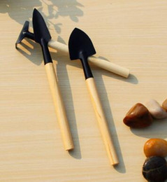 Wholesale Metal Garden Sets - 3Pcs Set Mini Garden Hand Tool Kit Plant Gardening Shovel Spade Rake Trowel Wood Handle Metal Head Gardener