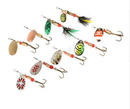 Wholesale Bait Feeder - Fishing spinner bait 2.5-4.5g spoon lure metal baits treble hook isca artificial fish wobbler feeder carp spinnerbait