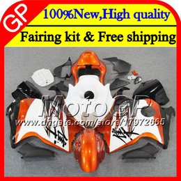 Carcaças de gsxr branco laranja on-line-Corpo Para SUZUKI GSXR1300 Hayabusa 96 07 2002 2003 2004 41GP4 GSX R1300 GSXR-1300 Branco laranja GSXR 1300 2005 2006 2007 Motocicleta Carenagem