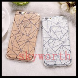 Wholesale Bling Powder - For iPhone7 Bling Luxury Glitter Powder Silver Rhombus Soft TPU Gel Case Cover for iPhone 5 5S SE 6 6S 7 Plus