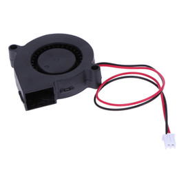 Wholesale Quiet Case Fan - Wholesale- DC 12V Ultra quiet MID speed brushless DC Blower Black Brushless DC Cooling Blower Fan 2 Wires 5015S 0.06A 50*15mm