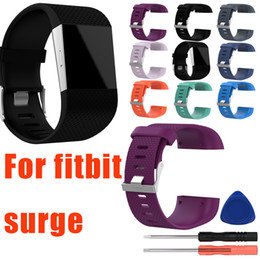 pk fitbit Promo Codes - For Fitbit surge Heart Rate Smart Wristband Bracelet Wearable Belt Strap Silicone Replacement Band With Tool Kits pk charge 2 alta