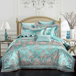 Wholesale Silk Sheets Queen Size - Luxury modal silk bedding sets lace bed clothes home textiles zipper duvet comforter cover bed sheet pillowcases queen king size hot 5814