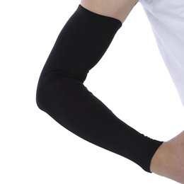 Wholesale Extended Arm Sleeves - Wholesale- 1pcs Single Breathable Extended Elbow Arm Sleeve Protection Joint Compression for Outdoor Basketball Football Shooting M L XL