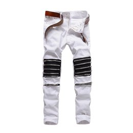 Wholesale Night Club Wear Men - Original Fashion Men's Jeans Men Wear Men's Foreign Trade Night Club Young Brand Jeans Trousers