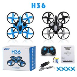 Wholesale Rc Helicopter Micro - H36 Mini Drone 2.4GHz 6 Axis RC Micro Quadcopters With Headless Mode Drones Flying Helicopter For Kid Gift KKA1950