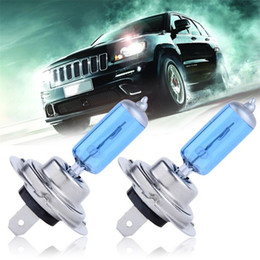 Wholesale H7 Headlight Bulb 12v 55w - H7 55W 12V Super Bright White Fog Lights Halogen Bulb High Power Car Headlights Lamp Car Light Source parking 5000K