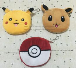 Wholesale Coin Purse Balls - Wholesale- HOT Gift BAG - Pikachu Pikachu Ball Plush Coin Purse , 3Models - Gift 10CM Coin BAG Purse Wallet , Pocket BAG Women Handbag