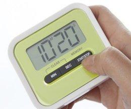 Wholesale Digital Display Clock Countdown - 2017 LCD Digital Kitchen Countdown Timer Alarm Plastic Display Timer Clock Kitchen Timers Cooking Tools Accessories BFFA466