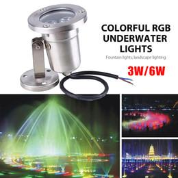 2019 fontes ao ar livre ao ar livre Atacado- 3W LED cores RGB fonte subaquática luz paisagem lâmpadas ao ar livre brilhante fontes ao ar livre ao ar livre barato