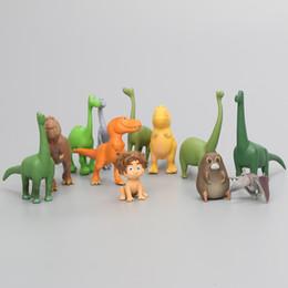 Wholesale Miniature Figures Set - 3-7cm anime Arlo Spot The Good Dinosaur 12pcs set Miniatures Anime PVC Action Figures Dinosaurs Figurines Kids Toys Brinqudoes