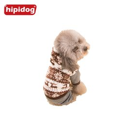 Wholesale Pet Sweaters Legs - Hipidog Warm Coral Fleece Dog Hoodie Coat Jacket Cothes Pet Hooded 4 Legs Jumpsuit Romper Shirt Costume Apparel for Small Dogs