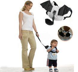 Wholesale Toddler Harness Bat - 2017 New Cute Cartoon Baby Kids Toddler Bat Walking Safety Harness Rein   Ladybird Backpack Walker Strap Anti-lost Bag