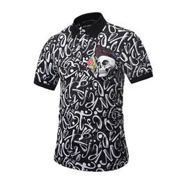 Camisa polo de hombre Camisas de gran tamaño impresas en 3d Camisetas de moda de verano Camisetas con letras y rayas Impresión casual Ropa deportiva de playa BL-024 desde fabricantes