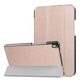 Wholesale Tablet Leather Protective Cases - Slim Custer Leather Tablet PC Cases For Lenovo Tab 3 8 Plus 8-inch tab3 7 Plus 7-inch Smart Cover folio folding stand case shells Kickstand