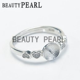 Wholesale Bulk Sterling Silver Jewelry - Bulk of 3 Pieces Ring Settings 925 Sterling Silver Finding DIY Jewelry Making Heart Ring Blank