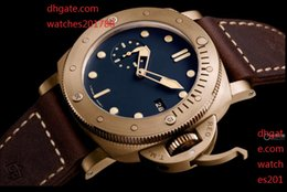 Wholesale Man Submersible Watches - The latest model 47mm real BRONZE automatic men watch 1950 SUBMERSIBLE wristwatch pam00671 pam671 pam 00671 Automatic Mens Watch Watches