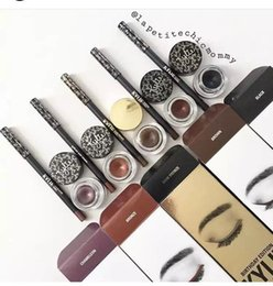 Wholesale Gel Liner Wholesale - kylie jenner kyliner kylie cosmetics eye liner set with gel pot brush birthday edition eyebrow liner makeup 3 colors 3pcs lot