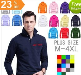 Wholesale Mens Long Sleeve Purple Polo - Brand Designer Polo Shirts Long Sleeve Polos Shirts lapel Mens t shirt