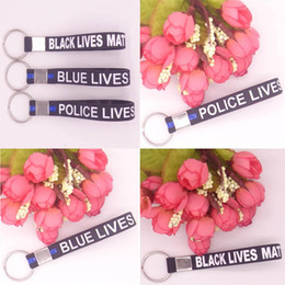 Wholesale Matter Color - 3 Color Wristband Silicone Bracelets Keyring Keychain Simple Blue Black Police Bracelets Key Chain Thin Matter Wristband C74L