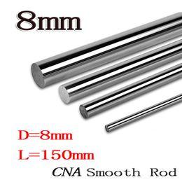 Wholesale linear guide cnc - Wholesale- 2pcs lot 3D printer parts rod 8mm linear shaft L 150mm chromed linear motion guide rail round rod Shaft for cnc parts 8mm 150mm