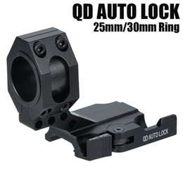 "Wholesale Quick Weaver - Tactical Auto Lock Quick Release Cantilever 25mm 30mm Scope Ring 2"" Of Forward Scope Position Picatinny Weaver QD Mount Black"