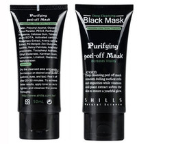 Wholesale Hills Shipping - HILLS Deep Cleansing Black Mask Pore Cleaner 50ml Purifying Peel-off Mask Blackhead Facial Mask Free DHL Shipping