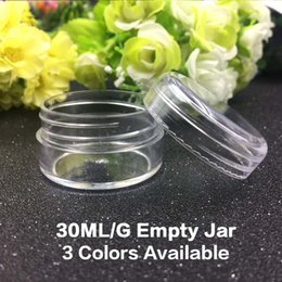 Wholesale Small Travel Jars - 30G Clear Plastic Cosmetic Sample Container 30Grams Jars Pot Small Empty Camping Travel Eyeshadow Face Cream Lip Balm 30ML Bottle