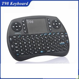 Wholesale Mini Tv Computer - Hot Selling Product 2017 Portable T98 Mini Wireless Air Mouse Keyboard 2.4ghz Wireless Mouse for Android TV Box, Computer and Netbox BX0212