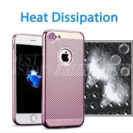 Wholesale Ultra Thin TPU Colorful Soft Heat Dissipation Case Phone Protective Electroplating Cover Spray Paint Cases For iPhone S S plus plus