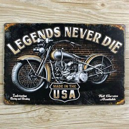 Wholesale Tin Signs Free Shipping - Wholesale- Motorcycle iron painting Metal Tin sign Retro plate Vintage plaque wall art decor cafe bar home 20*30 CM free shipping YT-00402