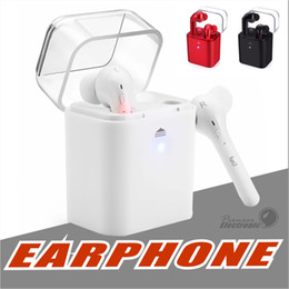 Wholesale Iphone Pods - Twins TWS Fun 7 Bluetooth Wireless Earphone Earbuds with Charging Box for iPhone 7 Air Pods Samsung Huawei Xiaomi
