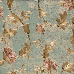 2019 dessins de papier peint vintage Gros-luxueux vintage naturel floral moderne papier peint fleuri effet de conception 3D maison magnifique pour vinyle de décoration intérieure promotion dessins de papier peint vintage