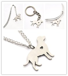 Wholesale Stainless Steel Charms Pendants - Labrador dog necklace charm heart cute pet i love dogs charm pendant necklace bangle keyring bookmark