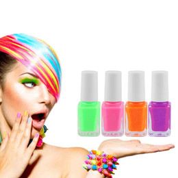 Wholesale Glow Nail Gel - Wholesale-New Candy color Glow in Dark Fluorescent Varnish Luminous DIY Nail Gel Polish Nail Art Manicure tool Hot! Fashion