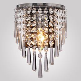 Wholesale Circular Homes - Modern Semi Circular Crystal Wall Lights Chandeliers Home Bedside Bedroom Living Room Crystal Wall Lamp Corridor Stair Led Bulb Light