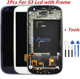 Wholesale Galaxy I535 Digitizer - 1Pcs For Samsung Galaxy S3 LCD Display Screen and Digitizer Touch Screen With Logo and Frame i747 L710 T999 i535 i9300 i9305 with Open Tools