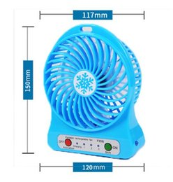 Wholesale Mini Cool Box - rechargeable mini USB fan USB fans rechargable USB fan cooling fan battery handheld portable with LED light wn124