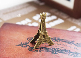 Wholesale eiffel tower place card holders - Romantic Paris Theme Vintage Eiffel Tower Place Card Holder Wedding Party Table Decoration Favors And Gifts ZA3690