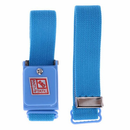 Wholesale Anti Static Wrist - Anti-Static Cordless Wireless Anti Static ESD Discharge Cable Band Wrist Strap Slim New Antistatic Wristband